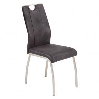 2er SET R5188-03 Trieste anthrazit / schwarz Esszimmerstuhl Küchenstuhl Stuhl... - Vorschau 3