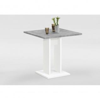668-001 BANDOL 1 Weiß / Beton grau Tisch Esszimmertisch Küchentisch Beistellt...