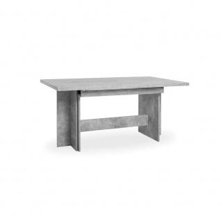 002703 ANCONA Beton grau Nb. Auszugstisch Esstisch Kulissentisch Speisezimmer...