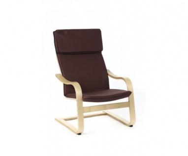 95320C2 Relaxsessel Schwingstuhl Stuhl Bezug Braun / Cappuccino Siesta