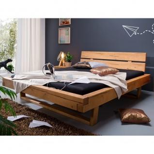 Firrel Bett in Kiefer massiv eichefarbig, honig gebeizt und geölt, Doppelbett...