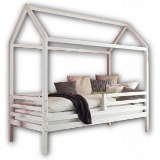 KARLSON Einzelbett 90 x 200 cm mit Himmelvorrichtung - Komfortables Jugendzim...