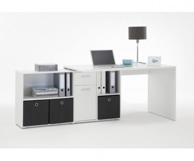 353-001 Lex weiss Schreibtisch Bürotisch Büro Winkelkombination - Vorschau 3