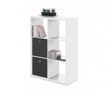 001225 Max 6er Weiss Raumteiler Regal Stauraumregal Bücherregal Büroregal