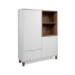 Kommode Sideboard Stauraumschrank ca. 103 x 139 x 35 cm 003030 MENORCA Weiß /...