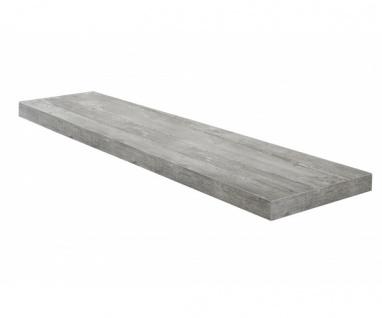 Wandboard Steckboard Hängeregal Wandregal 0521_90 Beton Grau Optik 90 cm breit