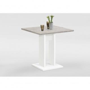 668-001 BANDOL 1 Weiß / Beton grau Tisch Esszimmertisch Küchentisch Beistellt... - Vorschau 2