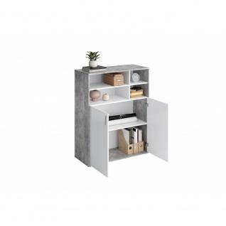Kommode Büroregal Siedeboard ca. 95 x 119 x 40 cm 355-003 RUST 3 Beton Grau /... - Vorschau 3