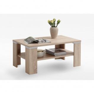 664-001 BASTIA Eiche Sägerau Nb. Couchtisch Beistelltisch Tisch Wohnzimmertis...