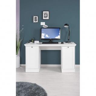 002825 LANDWOOD 31 Weiß Schreibtisch Arbeitstisch Bürotisch Laptop Tisch Land... - Vorschau 3