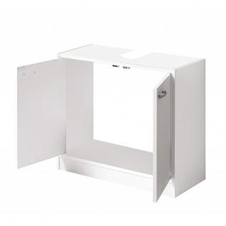 935-001 MARBELLA Weiß WBU Waschbeckenschrank Waschbeckenunterschrank Badschra... - Vorschau 3