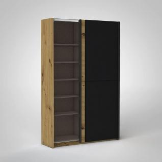 Schrank Schiebetüren Schwebetüren Kleiderschrank ca. 125 x 196 x 38 cm FAST A... - Vorschau 3