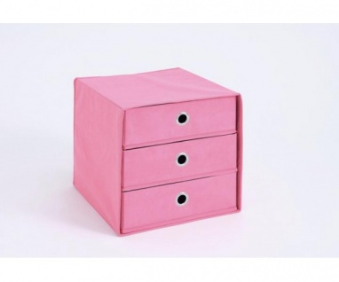 248-031 Mega 31 Pink Korb Regalkorb Fleecekorb Stoffkorb mit 3 Schubladen