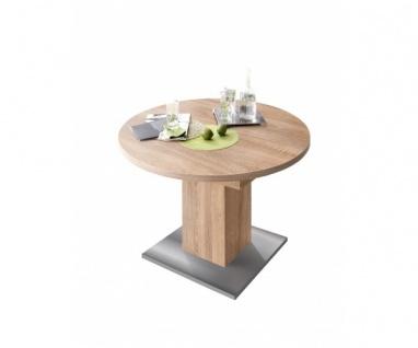 0588/104 Tisch rund Eiche Sägerau Nb. Esszimmertisch Küchentisch Speisezimmer...