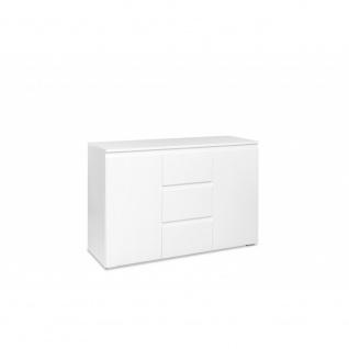002254 Image 4 Weiß 2 Türen / 3 Schubladen Kommode Beistellkommode Sideboard ...