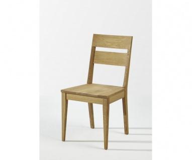 Filippa-M Wildeiche Massiv geölt Stuhl Esszimmerstuhl Holzstuhl ohne Auflage