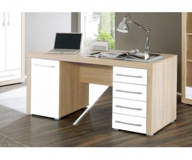 39-002-68 Cube Schreibtisch PC-Tisch Arbeitstisch Bürotisch Eiche Sägerau / W...