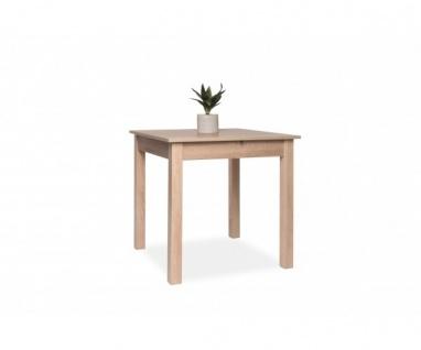 002043 Coburg Eiche Sägerau Nb. 80 x 80 cm Tisch Esszimmertisch Küchentisch a...