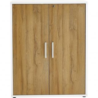 3012-011 CALVIA 11 Alteiche Türensatz Drehtüren Satz klein für Büroprogramm u...