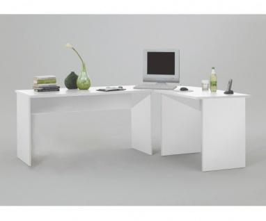 351-001 Till Weiss Schreibtisch Bürotisch Arbeitstisch Winkeltisch Ecktisch c...
