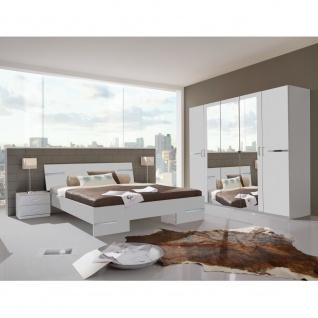 Schlafzimmer ANNA Weiß Schlafzimmer Gästezimmer Appartment inkl. Doppelbett, ...
