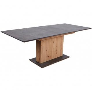 Esszimmertisch Küchentisch ausziehbar ca. 160 x 90 cm ANSGAR Artisan Eiche Nb...