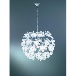 R11905001 Pendelleuchte Blowball chrom, weiß 5x E14 Höhe ca. 150 cm Durchm. c...