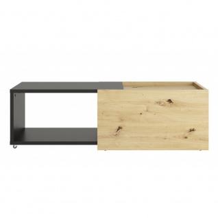 Couchtisch Beistelltisch ausziehbar ca. 126 x 38 x 50 cm SLIDE Artisan Eiche ... - Vorschau 2