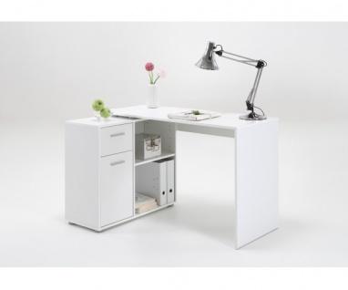 360-001 Albrecht weiss Schreibtisch Bürotisch Büro Winkelkombination