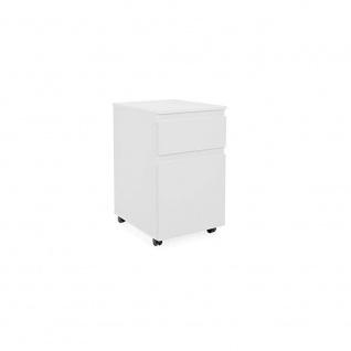 002831 IMAGE 31 weiß Rollcontainer Bürocontainer Rollwagen Druckerwagen für S...