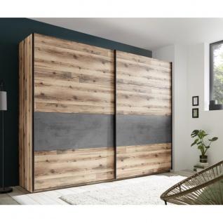 Schlafzimmer SET ALICANTE Alholz Dekor Alpin Lodge Beton Grau inkl. Kleidersc... - Vorschau 3