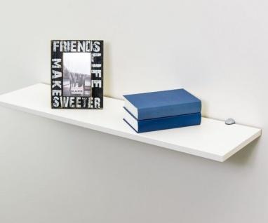 EVA Weiss ca. 90 x 1, 9 x 24 cm Hängeregal Wandregal Wandboard Bücherregal