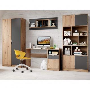 4tlg. Jugendzimmer Kinderzimmer Appartment Schrank Schreibtisch Regal Hängere...