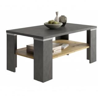 Beistelltisch Tisch Wohnzimmertisch ca. 100 cm BASTIA Matera grau / Artisan E...