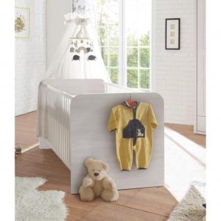 22-252-F3 CORNER LUCA Babybett Bett Jugendbett Kinderbett Pinie weiß 70 x 140 cm