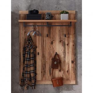 Garderobenpaneel Wandgarderobe Kleiderständer Paneel ca. 80 x 117 x 30 cm PRATO - Vorschau 3
