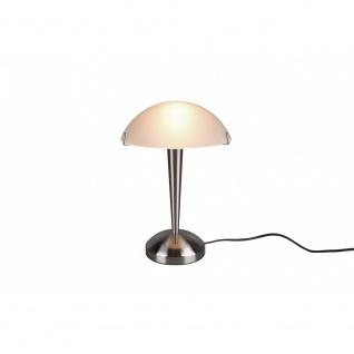Tischleuchte Tischlampe Stehleuchte Lampe Pilz Nickel matt weiß 1x E14, R5925-07