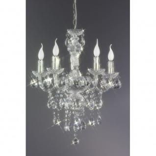 R1107-00 Kronleuchter Lüster chrom, transparent klar 5x E14 Höhe ca. 150 cm D... - Vorschau 3