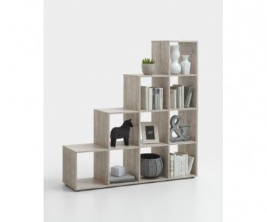 248-002 Mega 2 Sandeiche Dekor Raumteiler Regal Bücherregal ca. 139 cm breit