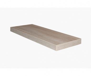 0521/90 Eiche Sägerau Dekor Wandboard Steckboard Wandregal 90 cm breit