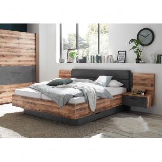 Schlafzimmer SET ALICANTE Alholz Dekor Alpin Lodge Beton Grau inkl. Kleidersc... - Vorschau 2