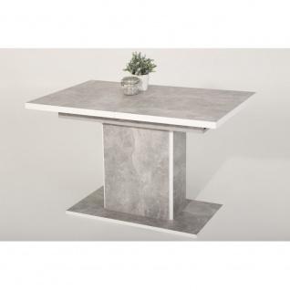 004663 ALICE Beton Nb. / weiß Esszimmertisch Tisch Küchentisch Speisezimmerti...