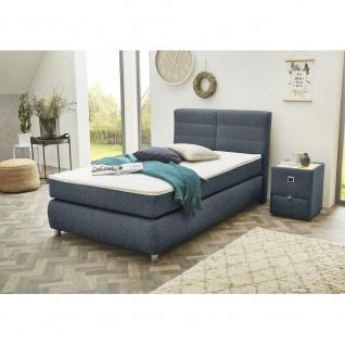 308/02 FRANZI Blau / Grau 120 x 200 cm Boxspringbett Polsterbett Bett Jugendb...