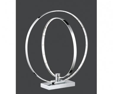 R52702106 PRATER LED Tischleuchte Nachttischleuchte Standleuchte chrom 2 Ring...
