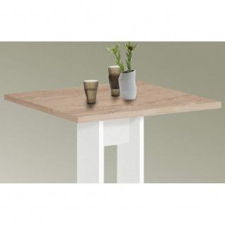 668-001 BANDOL 1 Weiß / Eiche Sägerau Sonoma Tisch Esszimmertisch Küchentisch... - Vorschau 2
