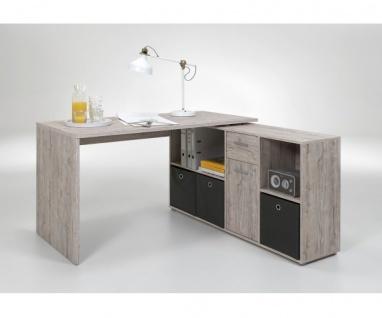 353-001 Lex Sandeiche Dekor Schreibtisch Bürotisch Büro Winkelkombination FMD