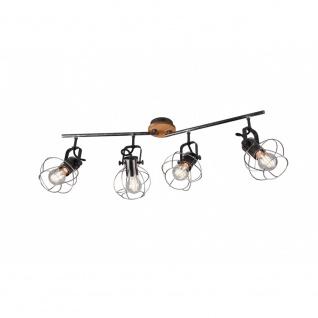 805300488 Strahler Leuchte Lampe Madras silberfarbig antik 4xE27 schwenkbar H...