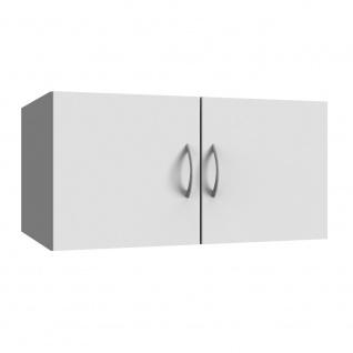 Schrank Aufsatz Multiraumkonzept in weiß mit 2 Türen, Wito Mehrzweckschrank, ...