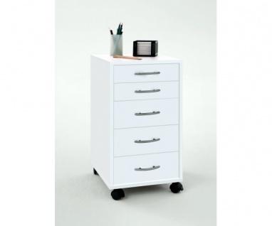 336-001 Freddy weiss Bürocontainer Rollcontainer Druckerwagen für Büro