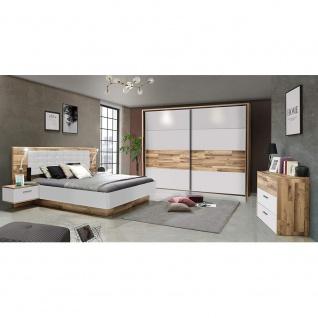 Schlafzimmerset MODERN WAY Schwebetürenschrank inkl. Bettanlage und Nachtkomm...